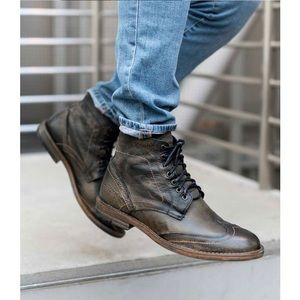 NWOB Roan Bed Stu Outlaw black boots men's size 10